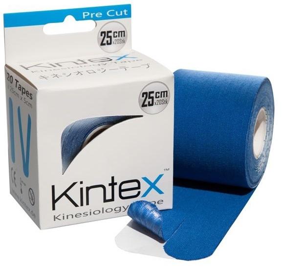 Кинезио тейп преднарезанный KINTEX 5cм*5м голубой