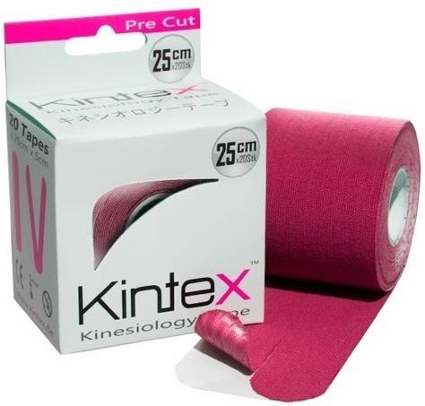 Кинезио тейп преднарезанный KINTEX 5cм*5м розовый