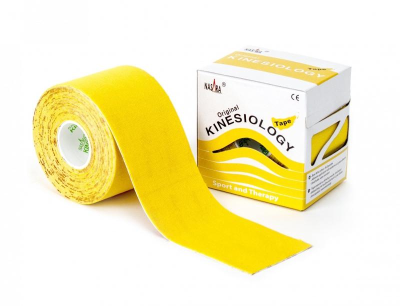 Кинезио тейп NASARA 5см*5м желтый