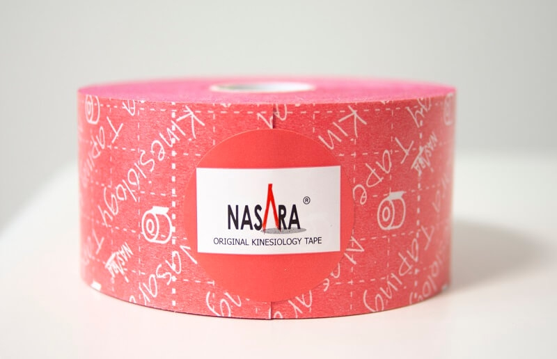 Кинезио тейп NASARA 5см*11м розовый